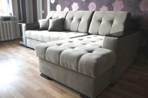 Перетяжка углового дивана